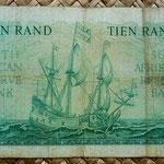 Sudáfrica 10 rand 1962 reverso