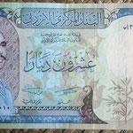 Jordania 20 dinars 1977 (168x84mm) pk.22a anverso