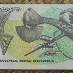 Papua Nueva Guinea 2 kinas 1992 (140x70mm) pk.12A reverso