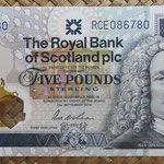 Escocia 5 pounds 2014 Royal Bank Conmemorativo RCE (135x72mm) pk.369 anverso