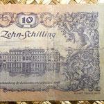 Austria 10 shillings 1950 reverso