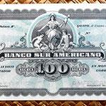 Ecuador 100 sucres 1920 anverso