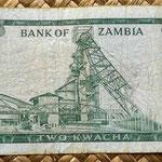 Zambia 2 kwacha 1968 reverso