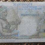 Martinica 50 francos 1947 (150x80mm) pk.30 reverso