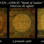 Sudan serie libras 1966 marcas de agua