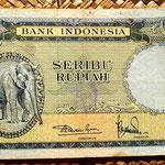 Indonesia 1000 rupias 1957 anverso