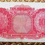 Bahamas 10 shillings 1953 reverso