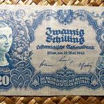Austria 20 shillings 1945 anverso