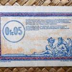Francia 0.05 francos 1923 -Régie des Chemins de Fer des Territoires Occupés- reverso