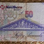 Irlanda del Norte 50 libras 2005 Northern Bank pk.208a reverso