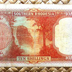 Southern Rhodesia 10 shillins 1939 reverso