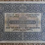 Hungria 10.000 coronas 1923 (145x88mm) pk.77a reverso