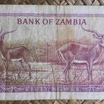 Zambia 50 ngwees 1969 (120x65mm) pk.9b reverso