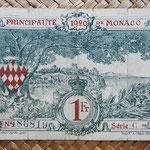 Mónaco, 1 franco 1920 (108x72mm) pk.5 reverso