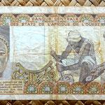 Burkina Faso 1000 francos 1977 reverso