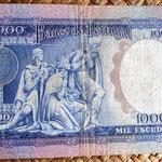 Portugal 1000 escudos 1961 reverso