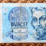 Chequia 20 korun 1994 anverso