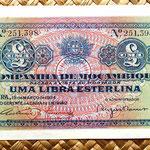 Mozambique colonial portugués 1 libra esterlina 1934 anverso