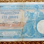 Serbia 100 dinares 1905 pk.12c anverso