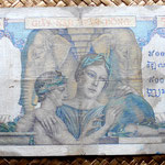 Indochina asiática francesa 500 francos 1939 reverso