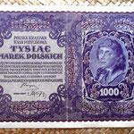 Polonia 1000 marek 1919 (212x135mm) pk.29 anverso