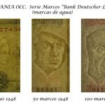 Alemania Occidental serie Bank Deutscher Lander 1948 marcas de agua