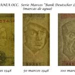Alemania Occidental serie Bank Deutscher Lander 1948 marcas de agua