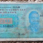 Katanga 20 francos 1960 anverso