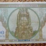 Nueva Caledonia 100 francos 1963 pk.42e reverso