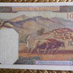 Argelia 100 francoas 1940 (155x92mm) pk.85 reverso
