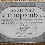 Francia Assignat 500 livres 1794 (116x172mm) pk.A77 uniface