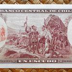 Chile 1 escudo 1962-70 reverso