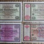 Alemania bonos Reichsmark -jewish notes- 1933-1934 anversos