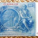 Alemania 100 reichsmark 1935 reverso