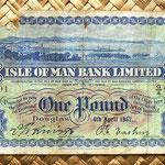 Isla de Man 1 pound 1957 anverso
