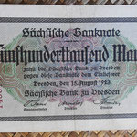 Alemania 500.000 marcos Sachsische Bank Dresden ago-1923 (144x90mm) pk.S961 anverso