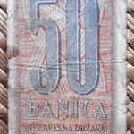 Croacia 50 banicas 1942 (80x44mm) anverso