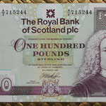 Escocia 100 pounds 1999 (169x94mm) pk.350c anverso