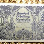 Austria 100 shillings 1945 anverso