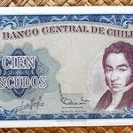Chile 100 escudos 1967-70 anverso