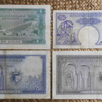 Tunez 1ª serie dinares 1958-1962 Habib Bourguiba reversos