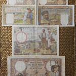 Argelia y Túnez colonial serie Francos años '40 s.XX anversos