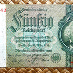 Alemania 50 reichsmark 1933 anverso