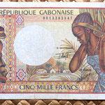 Gabon 5000 francos 1984 anverso