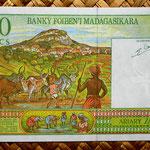 Madagascar 500 francos - 100 ariary 1994 pk.75 reverso