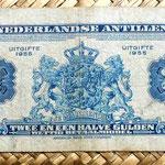 Antillas holandesas 2,5 gulden 1955 reverso