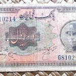 Irán 10 rials 1934 anverso