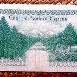 Chipre 500 mils 1976 reverso
