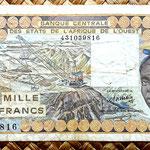 Burkina Faso 1000 francos 1977 anverso