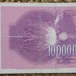 Yugoslavia 10.000.000.000 dinares 1993 pk.127 reverso